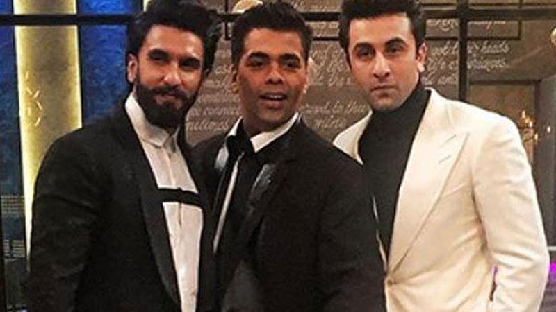 Ranveer Singh, Karan Johar and Ranbir Kapoor
