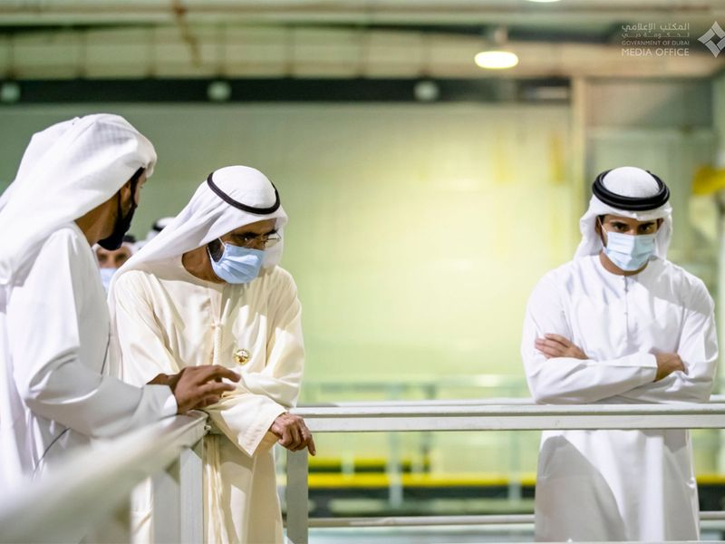 Sheikh Mohammed visits fish farm
