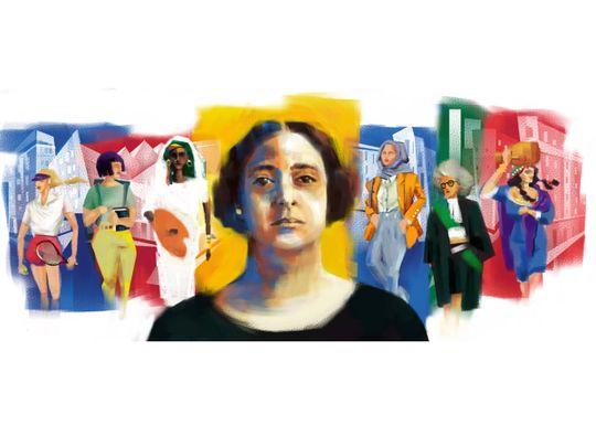 Huda Shaarawi Google Doodle