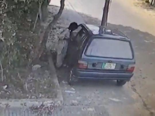 Karachi boy steals car