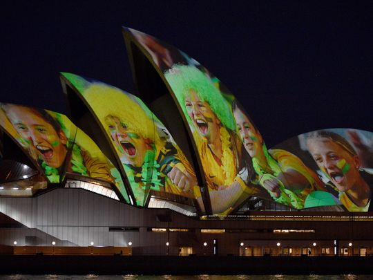 Sydney Opera House is lit in celebration of Australia and New Zealand's joint bid to host the FIFA Women's World Cup 2023