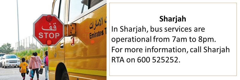New public transport timings in UAE
