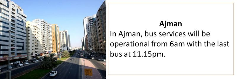 New public transport timings in UAE