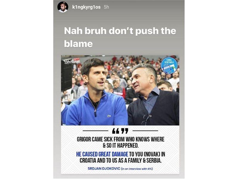 Nick Kyrgios' response