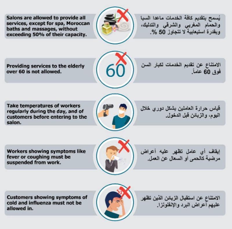 Sharjah rules for hair salons