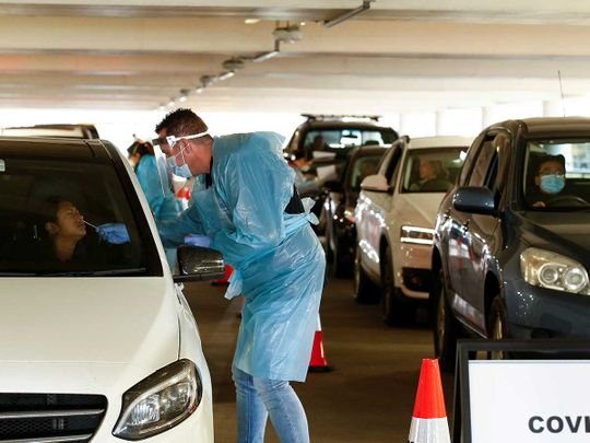 Victoria Australia coronavirus drive through