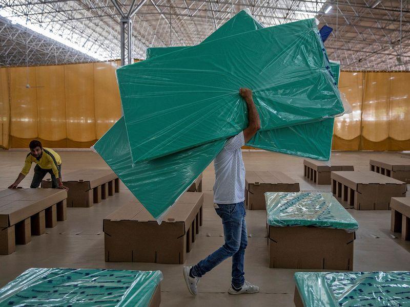 Coronavirus Cardboard beds
