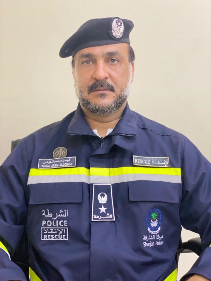 Lietunanent colonel Faisal Al Dokhi,  director of Sharjah police Rescue unit-1593169402352