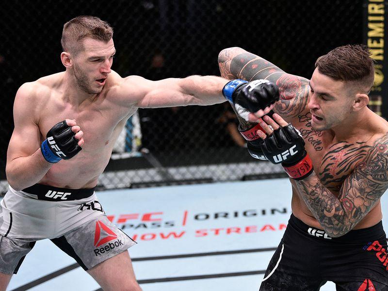 Former UFC lightweight interim champion Dustin Poirier narrowly outlasted Dan Hooker at UFC Fight Night