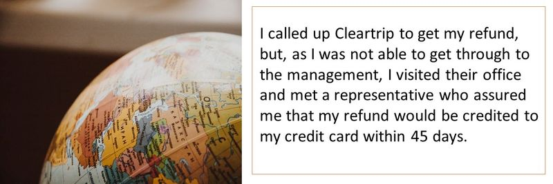 Mustafa T Complaint cleartrip