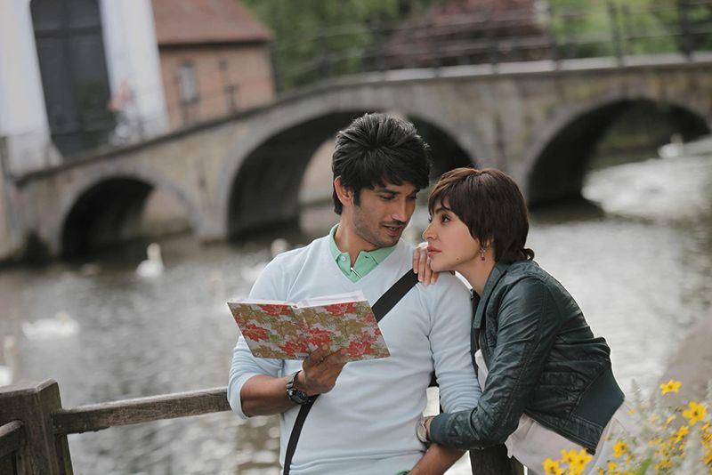 Sushant Singh with Anushka Sharma in PK