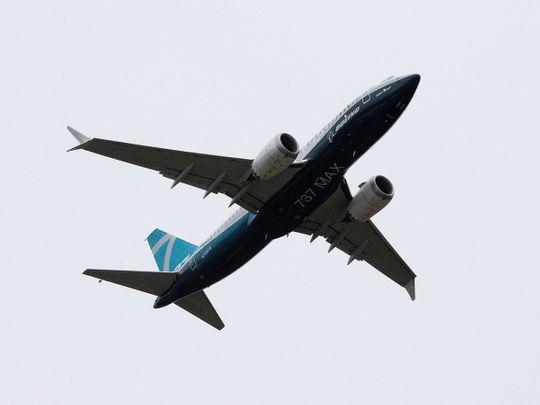 A Boeing 737 MAX airplane