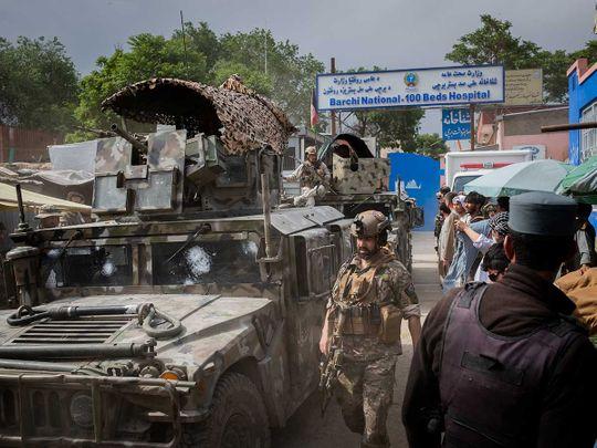 Afghan blast cattle market