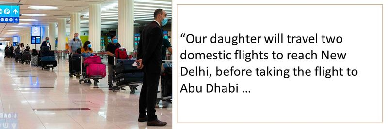 Can my daughter travel from New Delhi from July 2?