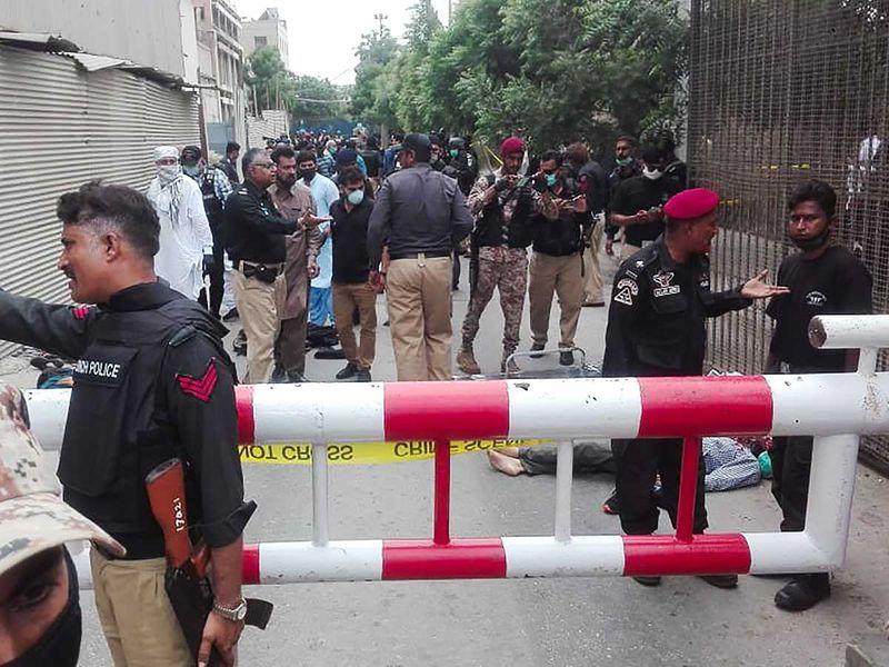 Karachi stock exchange attack