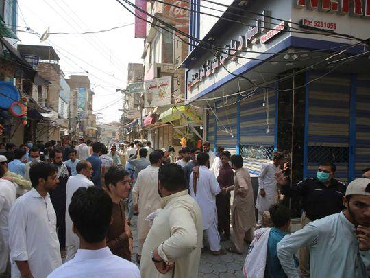Peshawar shopkeepers Pakistan