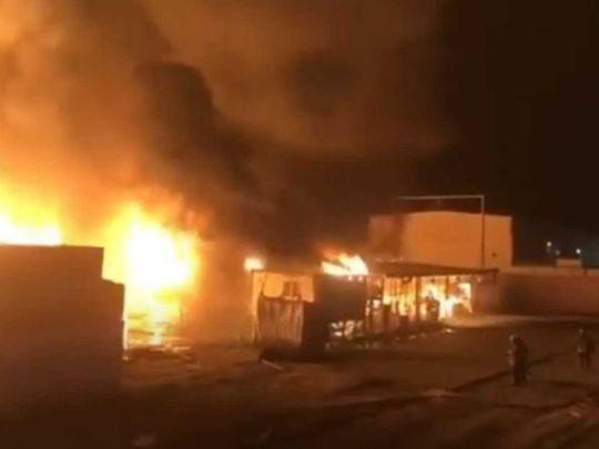 Massive fire rages in Kuwait