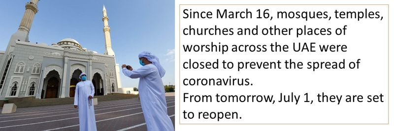 Mosques reopen