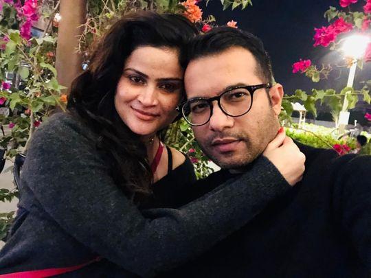 NAT 200629 Kaniz Shaikh with her husband Muhib Shaikh-1593504812152