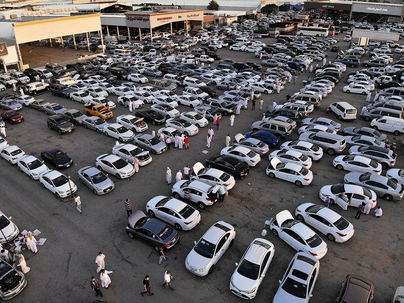 Saudi car rush