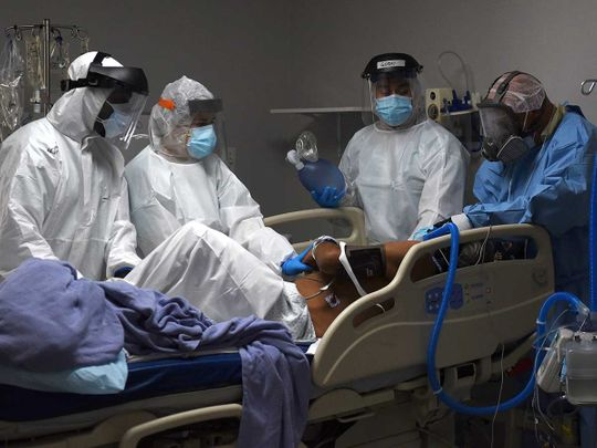 US coronavirus medical workers intensive care unit