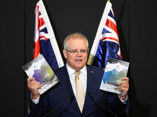 Australia's Prime Minister Scott Morrison 2020 Defence Strategic Update