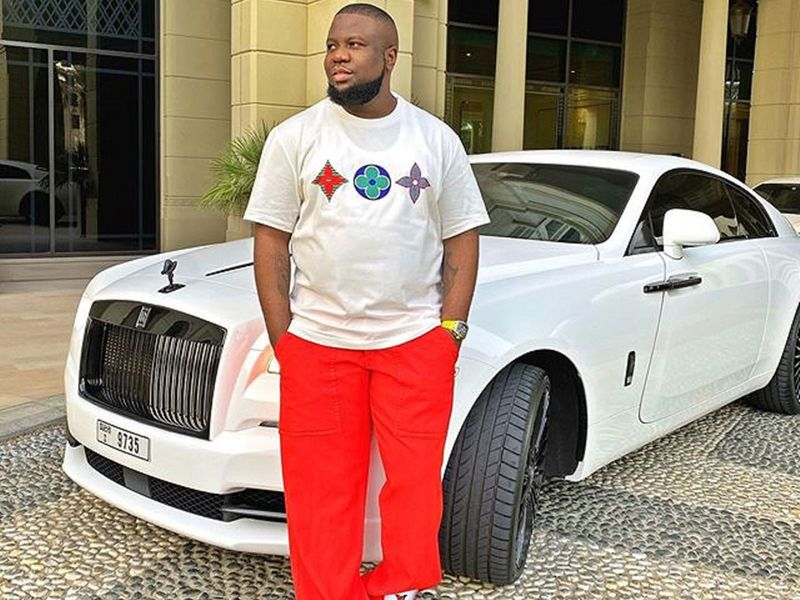 Hushpuppi on a Rolls Royce