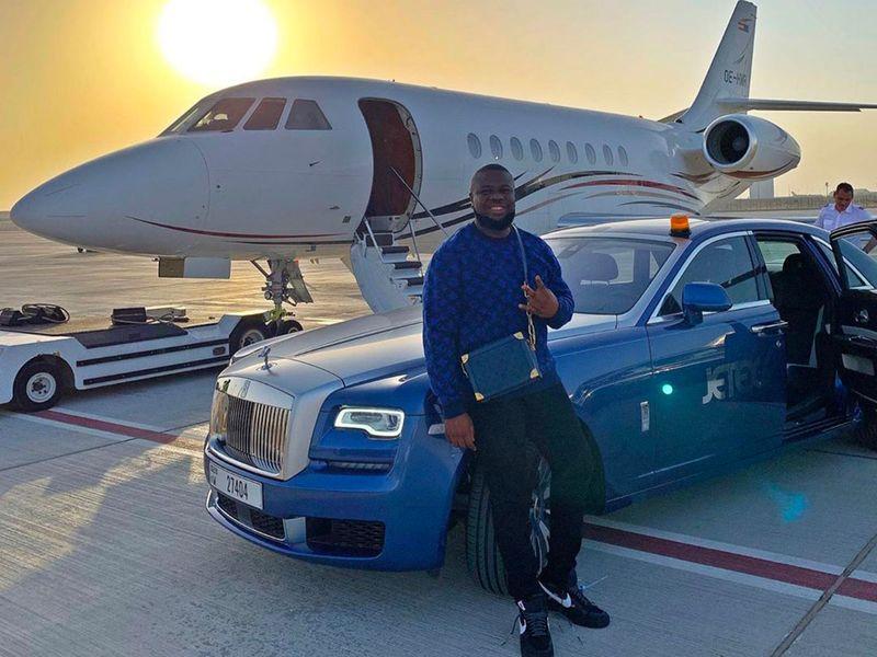 Hushpuppi outside a private jet