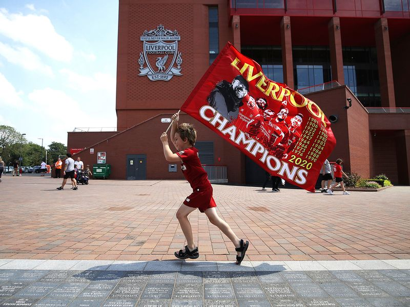 Liverpool fans young and old are celebrating a first Premier League title