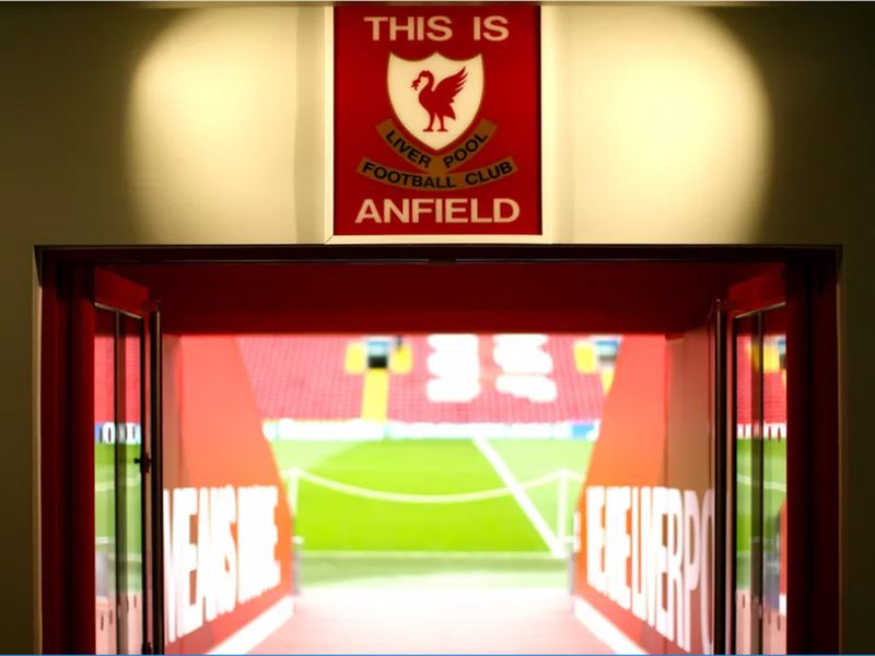 The famous 'This Is Anfield' sign