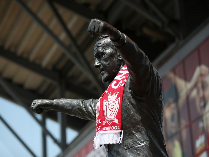 The statue of Bill Shankly outside Anfield