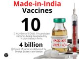 Vaccines made in India