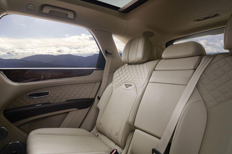auto bentayga rear seat