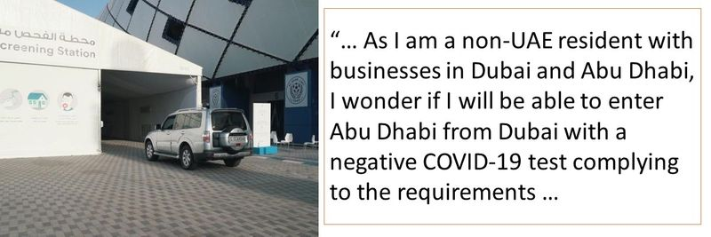 COVID-19 test for entering Abu Dhabi