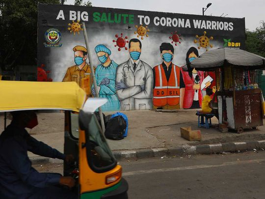 Coronavirus india graffiti frontline workers thanks