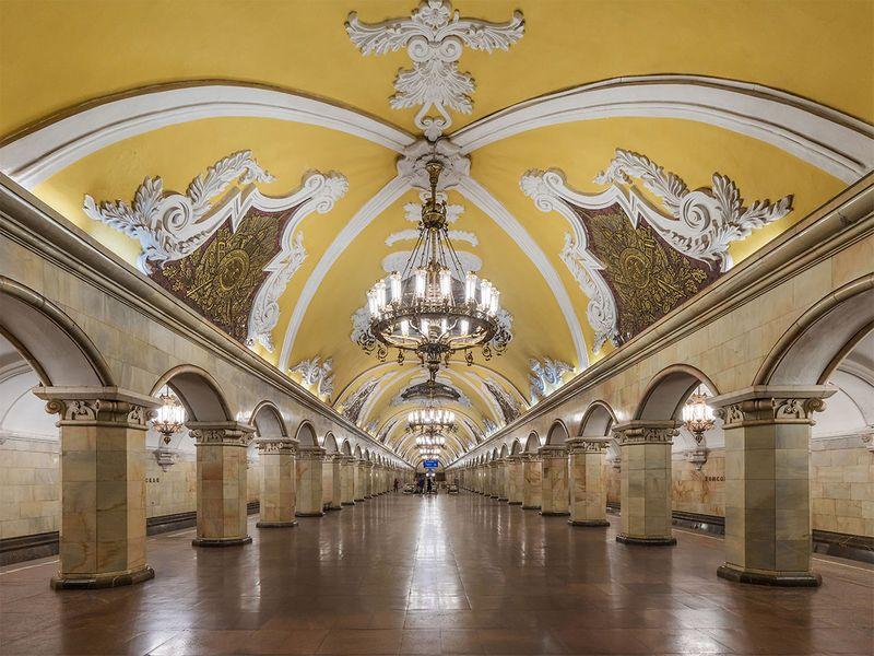 Komsomolskaya station in Russia