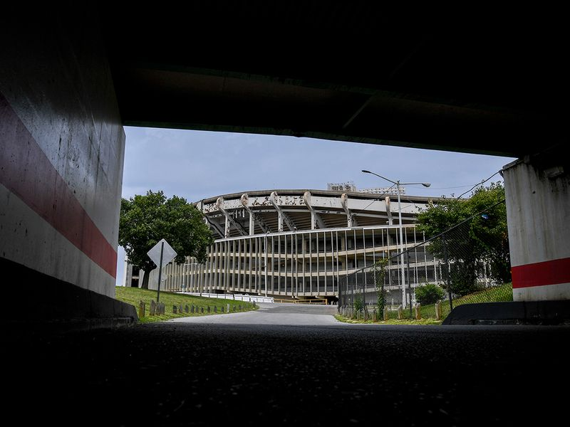 RFK Stadium in Washington is scheduled to be razed in 2021. MUST CREDIT: Washington Post photo by Jonathan Newton
