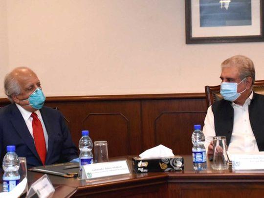 Shah Mahmood Qureshi meeting with Ambassador Zalmay Khalilzad