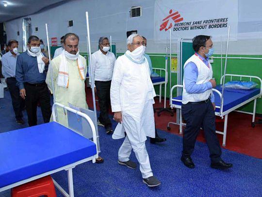 Bihar chief minister Nitish Kumar covid hospital