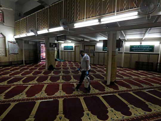Egypt cairo mosque disinfectant