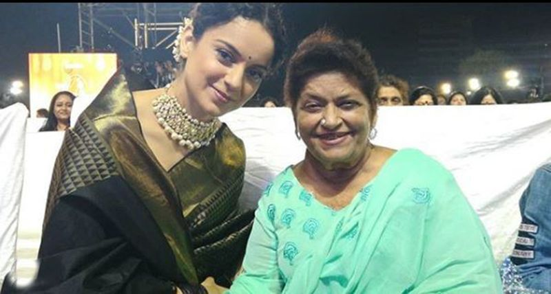 Kangana Ranaut and Saroj Khan