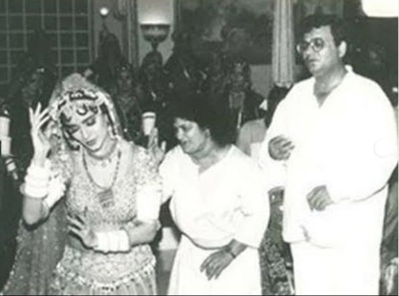 Madhuri Dixit Nene, Saroj Khan and Subhash Ghai