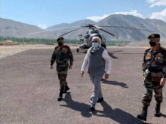Modi Ladakh China border