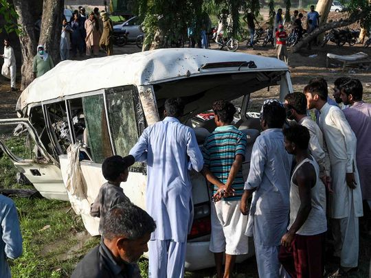 Pakistan train bus crash