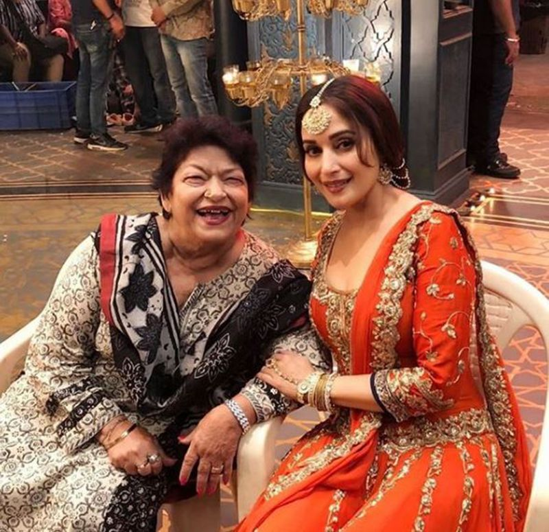 Saroj Khan and Madhuri Dixit