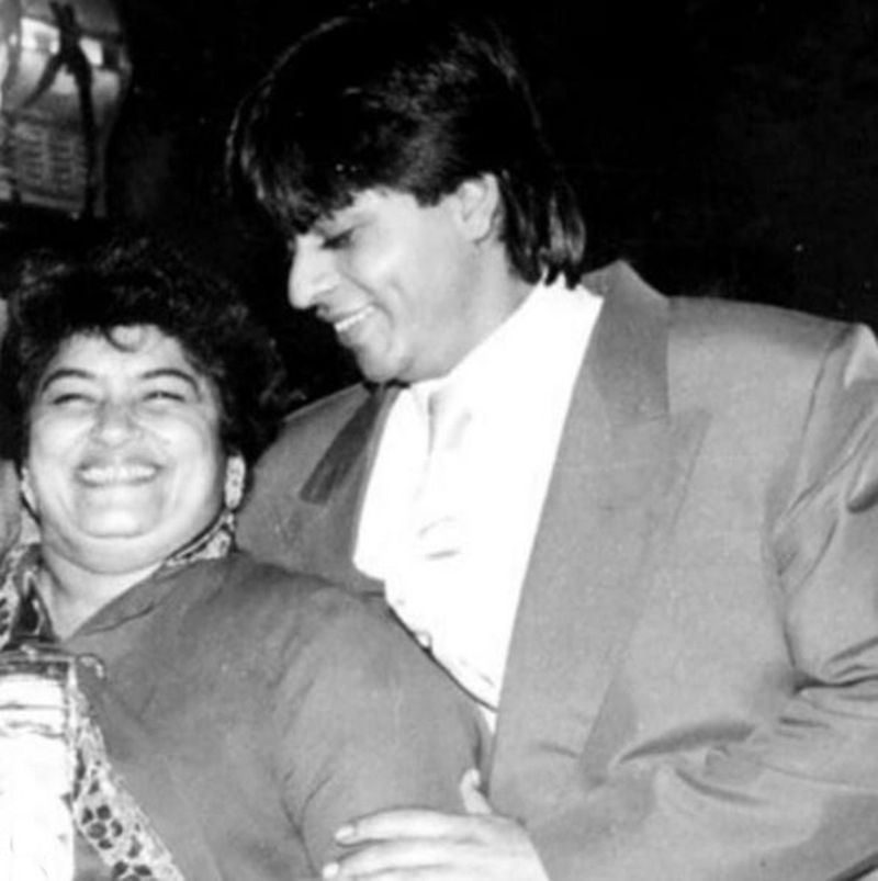Saroj Khan with Shah Rukh Khan