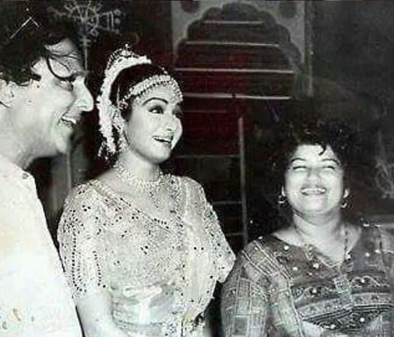 Sridevi and Saroj Khan