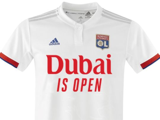 The Lyon jersey for the friendly against Nice