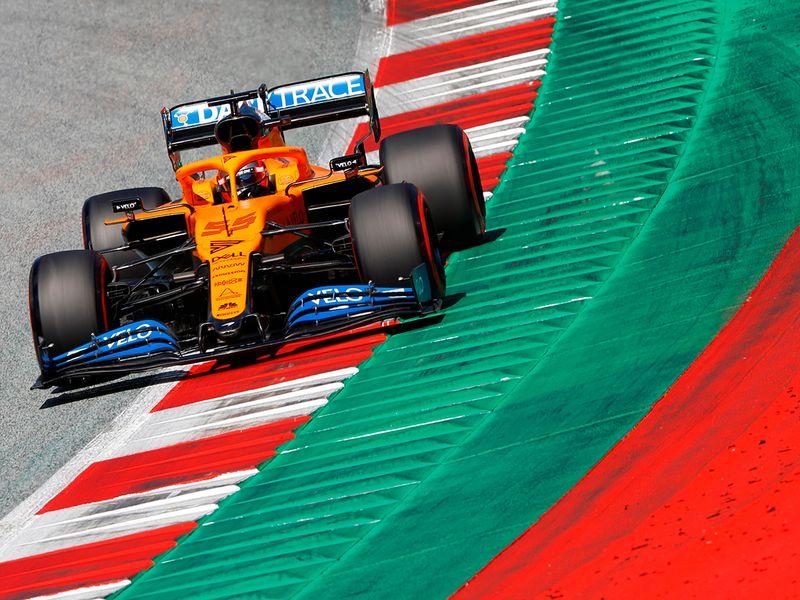 Carlos Sainz in action in Austria