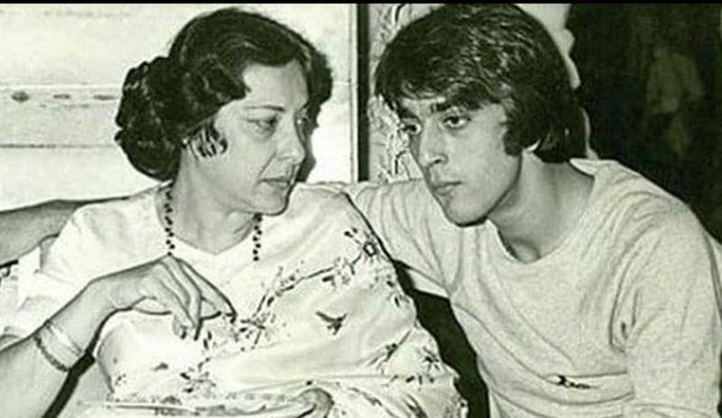Nargis Dutt and Sanjay Dutt